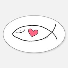 The Jesus Love Fish Oval Decal