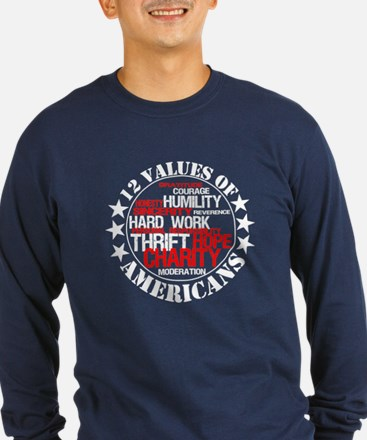 """12 Values of Americans "" T"