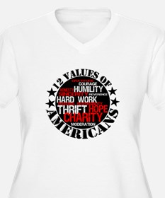 """""""12 Values of Americans """" T-Shirt"""