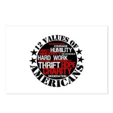 """""""12 Values of Americans """" Postcards (Package of 8)"""