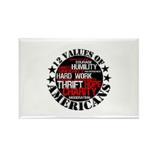 """""""12 Values of Americans """" Rectangle Magnet"""