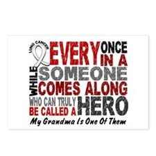 HERO Comes Along 1 Grandma LUNG CANCER Postcards (