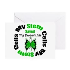 MyStemCellsSavedBrother Greeting Card