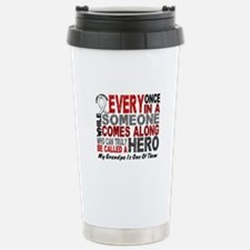 HERO Comes Along 1 Grandpa LUNG CANCER Stainless S