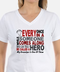 HERO Comes Along 1 Grandpa LUNG CANCER Shirt