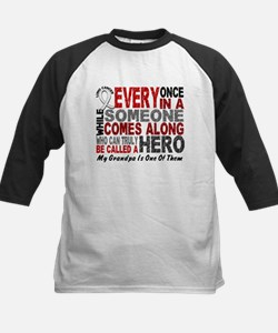 HERO Comes Along 1 Grandpa LUNG CANCER Tee