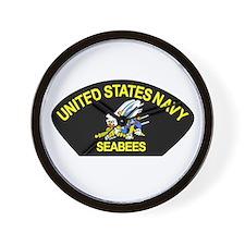 Cute Navy seabee Wall Clock