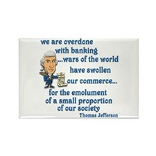 Thomas Jefferson on the banks Rectangle Magnet
