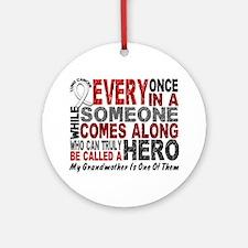 HERO Comes Along 1 Grandmother LUNG CANCER Ornamen