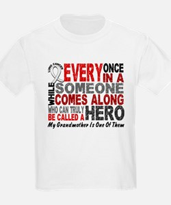 HERO Comes Along 1 Grandmother LUNG CANCER T-Shirt