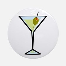 Dirty Martini Round Ornament