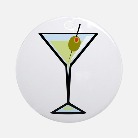 Dirty Martini Round Ornament