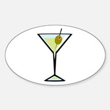 Dirty Martini Oval Decal