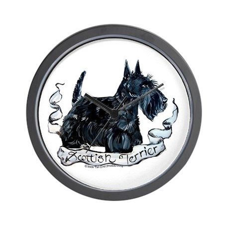 Scottish Terrier Style Wall Clock