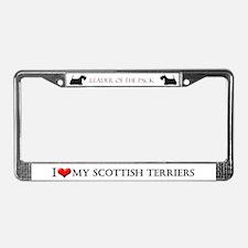 Scottish Terrier Style License Plate Frame