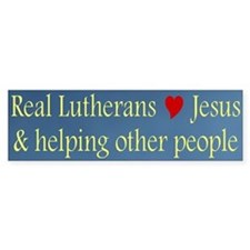 Jesus and Helping Others Bumper Bumper Sticker