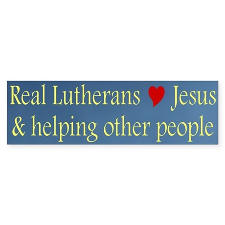 Jesus and Helping Others Bumper Sticker
