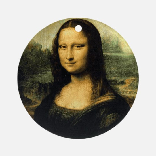 Mona Lisa Ornament (Round)
