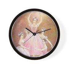 Pas de Quatre Ballet Wall Clock (color)