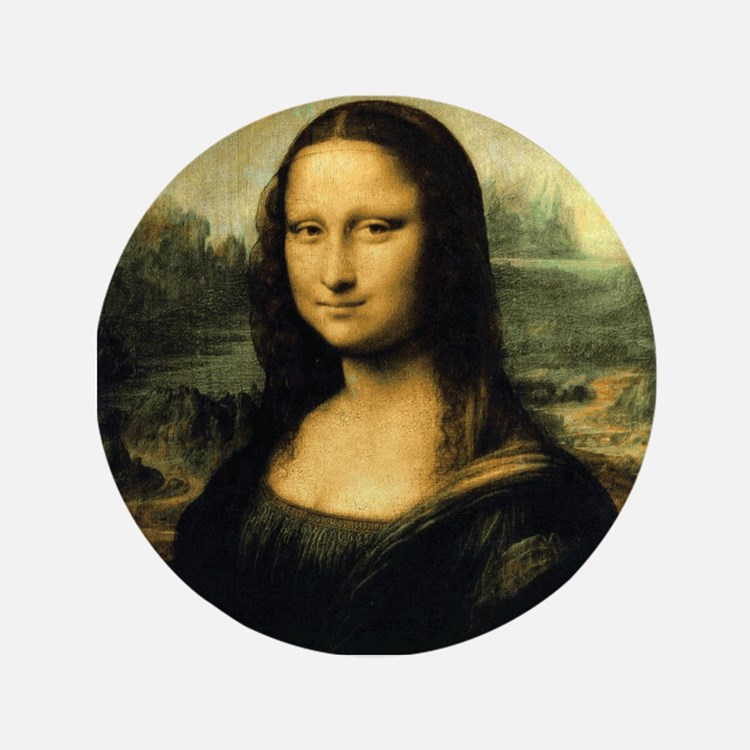 "Mona Lisa 3.5"" Button"