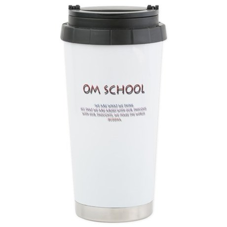 Om School Stainless Steel Travel Mug