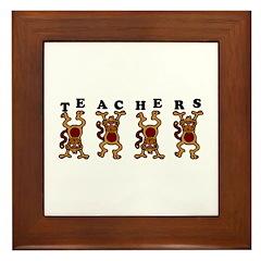 Teachers Monkey Around Framed Tile