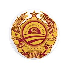 """Obama Soviet Seal 3.5"""" Button"""