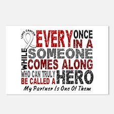 HERO Comes Along 1 Partner LUNG CANCER Postcards (