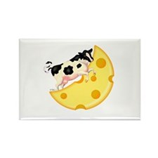 Cow Jumped Over the Cheese Mo Rectangle Magnet (10