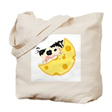 Cow Jumped Over the Cheese Mo Tote Bag