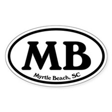 MB Myrtle Beach Oval Oval Decal