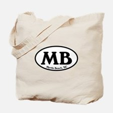 MB Myrtle Beach Oval Tote Bag
