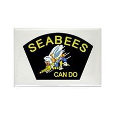 Funny Seabees Rectangle Magnet