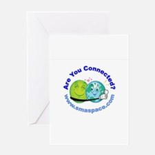 One World Connected by SMA Greeting Card