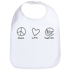 Peace, Love and Happiness Bib