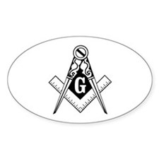 Blue Lodge Oval Decal