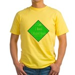 I Kicked Grass Yellow T-Shirt