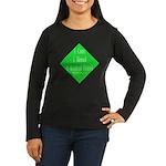 I Kicked Grass Women's Long Sleeve Dark T-Shirt