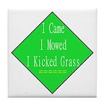 I Kicked Grass Tile Coaster