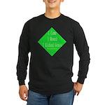 I Kicked Grass Long Sleeve Dark T-Shirt