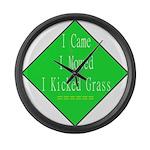 I Kicked Grass Large Wall Clock