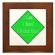 I Kicked Grass Framed Tile