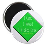 """I Kicked Grass 2.25"""" Magnet (100 pack)"""