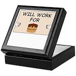 WILL WORK FOR CAKE Keepsake Box