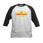 DJ POOPS-A-LOT Kids Baseball Jersey