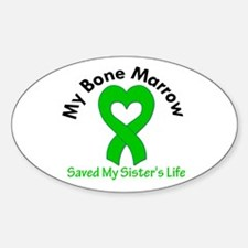 BoneMarrowSavedSister Oval Decal