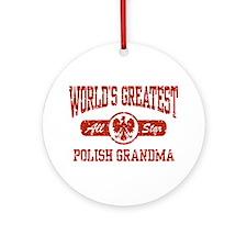World's Greatest Polish Grandma Ornament (Round)