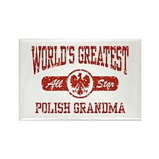 World's Greatest Polish Grandma Rectangle Magnet