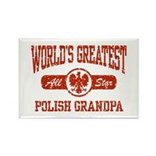 World's Greatest Polish Grandpa Rectangle Magnet