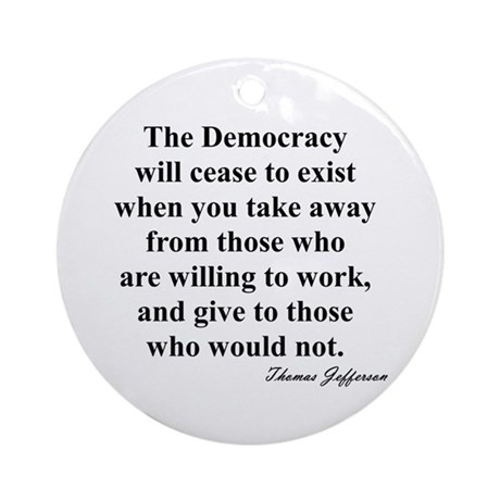 """""""End of Democracy"""" Ornament (Round)"""